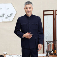 Traditional Chinese Tang Suit for Men Jacket Coat New Year Spring Festival Tunic Zhongshan
