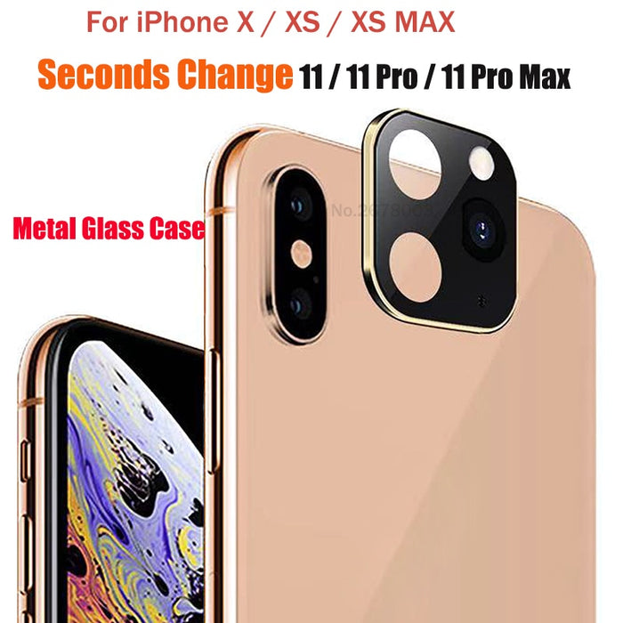 Lens Case Seconds Change For iPhone 11 Pro Protector Metal Alumium Ring Cover Case For iPhone X XS MAX