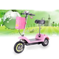 Adult Mini Foldable Electric Scooter 3 Wheel Lady Women Mini Electric Bike Bicycle Instead Of Walking 36V 300W Brushless Motor