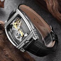 Transparent Automatic Mechanical Watch Men Steampunk Self-wind Mens Clock Watches