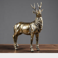 European style Resin Deer Figurine Statue Home Living Room Decor Crafts Animal Sculpture Modern Desktop Ornament Creative Gifts