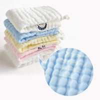 5pcs/pack Saliva Towel Infant Gauze Small Square Towel Newborn Baby Cute Cartoon Breathable Soft Handkerchief Baby Caring Supply