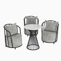 Nordic Single Living Room Sofa Modern Light Luxury Fabric Sofa Chair Restaurant Leisure Furniture Rest Area Negotiation Chair