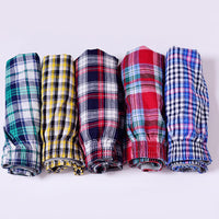 1pc Men's Cotton Arrow Boxers Casual Plaid Print Elastic Waist Underwear Summer Loose Breathable Beach Pants Boxers Shorts