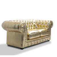 U-BEST luxury golden armchair hotel sofa tufted back living room chesterfield single sofa chair