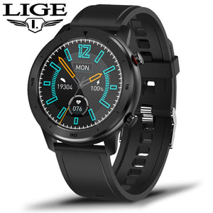 LIGE New IP68 Waterproof Smart Watch Men Heart Rate Blood Pressure Monitoring Full Touch
