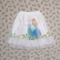 2019 new Baby girl fashion beautiful skirts princess Summer cartoon clothing Elsa and Anna girls Mesh  Elza short skirt