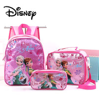 3pcs/pack Kids Frozen Cartoon Backpack Fashion Cute Children's Schoolbag Plush Bag Car Story Boys Backpacks unicorn bags