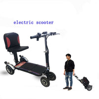 Folding three-wheel four-wheel mobility scooters for the elderly, disabled people