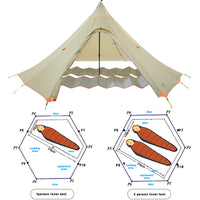 ASTAGEAR firstsnow ul pyramid tent 2 person waterproof teepee shleter for camping hiking