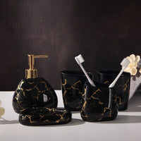 Bathroom Accessories Set Soap Dispenser/Toothbrush Holder/Tumbler/Soap Dish Bathroom Products
