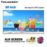"ALR Ambient Light Rejecting Projection Screens 80"" Ultra-thin border Frame Specialize for Optoma Xiaomi UST projectors"