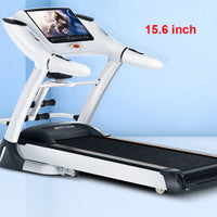 Household Electric Treadmill 15.6 inch Color Screen Multi-function Face Recognition Intelligent Speech Treadmill 0.8-18km/h