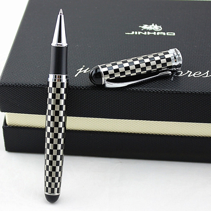 JINHAO 750 Pen Business Writing Supplies Grey 0.7 mm Nib gel Pen Chess boad roller ball pen
