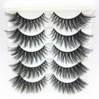 LTWEGO 5 pairs faux 3d mink lashes fluffy wispy false eyelashes natural long eyelash extension makeup handmade fake lash 3D-21