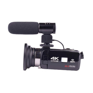 4K WiFi Camera 16X Zoom Digital Video Camcorder Wide Angle Lens Professional Handheld DV Night Shooting with Microphone
