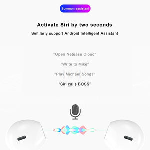 RZP 2020 New Wireless Headphones TWS Bluetooth 5.0 Headset Microphone Touch Cotrol 3D Sound Wireless Earphone With Charging Box