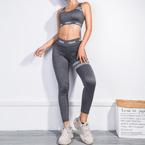 2019 High Waist Women Sports yoga set Fashion Casual yoga Bra and Leggings Set Wear Fitness Clothing Women Gym Sport yoga Suit