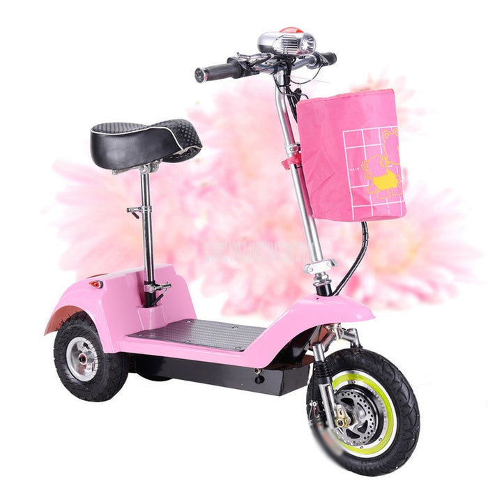 Adult Mini Foldable Electric Scooter 3 Wheel Lady Women Mini Electric Bike Bicycle Instead