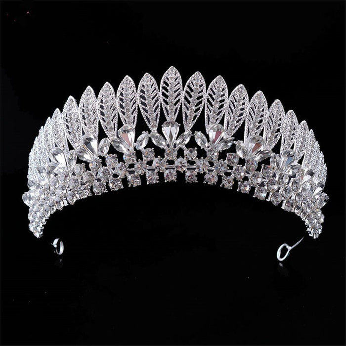 Beautiful  Silver Hair Tiaras Shining Rhinestones Princes Women Bride Crown Hair Jewelry Accessorie