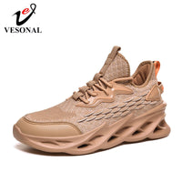 VESONAL 2020 Spring New Thick sole hip hop Sneakers Men Shoes Casual Flyknit Breathable Comfortable Male Walking Footwear street
