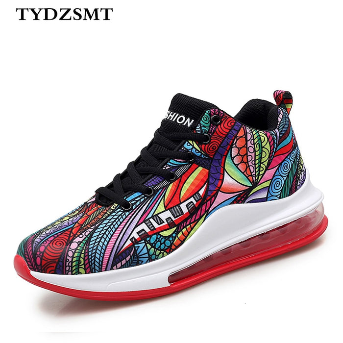 TYDZSMT Women Platform Sneakers Breathable 2020 Fashion Casual Lover Graffiti Totem Ankle Boots Outdoor Shoes Tenis Feminino