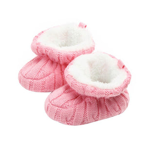 Baby Boots Winter Newborn Girls Shoes Warm Solid Knitted infant Boots Indoor Baby Shoes For Girl