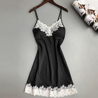 2S#Women Ladies Sexy Silk Satin Night Dress Sleeveless Nighties Nightgown Plus Size Nightwear