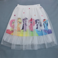New My little Baby Girls Toddler Skirts Cartoon Unicorn Tutu Pony Horse Princess Printed Lace Clothes Kids short Skirt for girl