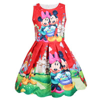 2019 Disney Minnie Girls summer small children's vest dress cotton children's clothing girl baby dress sleeveless Mickey mouse
