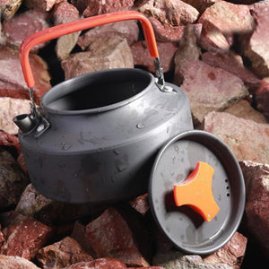 Outdoor Portable Teapot Water Bottle Cookware Picnic Kettle Pot Corrosion Resistance Hard Oxidation Treatment for Camp Cooking