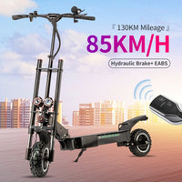 Halo Knight 85KM/H Foldable Electric Scooter With Seat 11inch 60V 5600W Dual Motors Adult E scooter 130KM Mileage Motorcycle