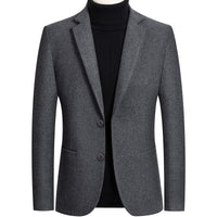 BOLUBAO Men Blazer Brand Lined Solid Color Men's Slim Fit Suit High Quality Lattice Tuxedo Blazers Male