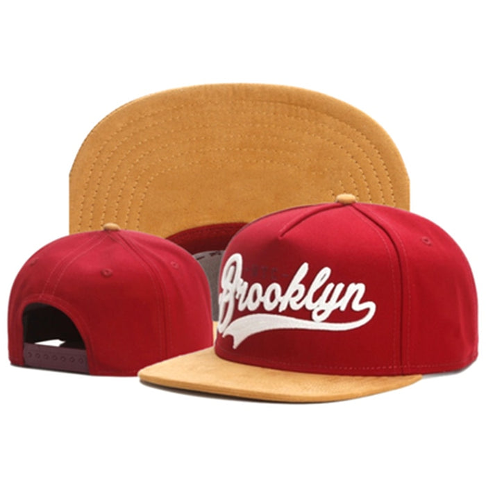 TUNICA Brand FASTBALL CAP BROOKLYN faux suede hip hop red snapback hat