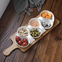 Ceramic plate fruit plate salad bowl wooden tray Japanese tableware kitchen cooking tools home baking baking dish sauce dish