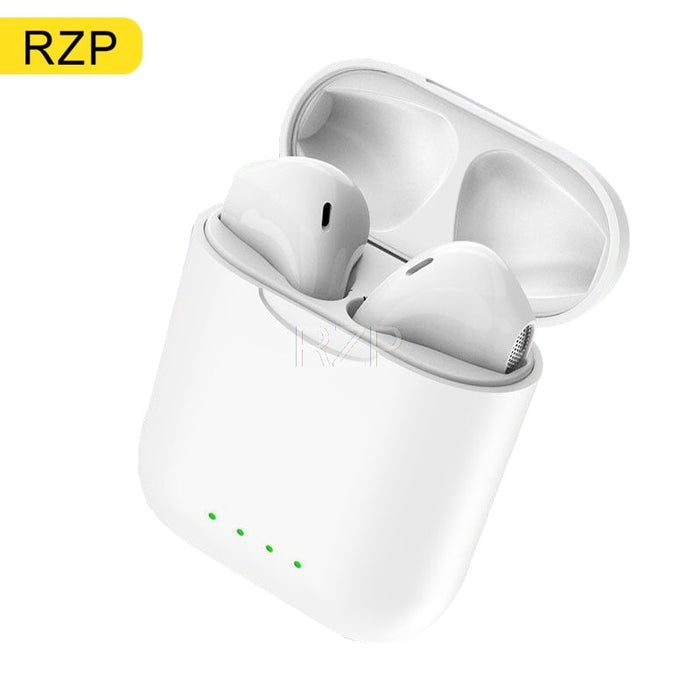 RZP 2020 New Wireless Headphones TWS Bluetooth 5.0 Headset Microphone Touch Cotrol 3D Sound Wireless Earphone With Charging Box (White)