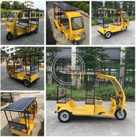 Factory price of electric tricycle for passengers electric tricycle adult electric Tuk Tuks with solar panels for sale