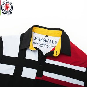 Fredd Marshall 2019 Autumn New Colorblock Polo Shirt Men 100% Cotton Long Sleeve Patchwork Polo Shirts Casual Male Tops 064