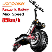 janobike 5600W T85 electirc scooter 85km/h scooter electric 32Ah  Battery kick scooter with Hydraulic Brake Dual Drive