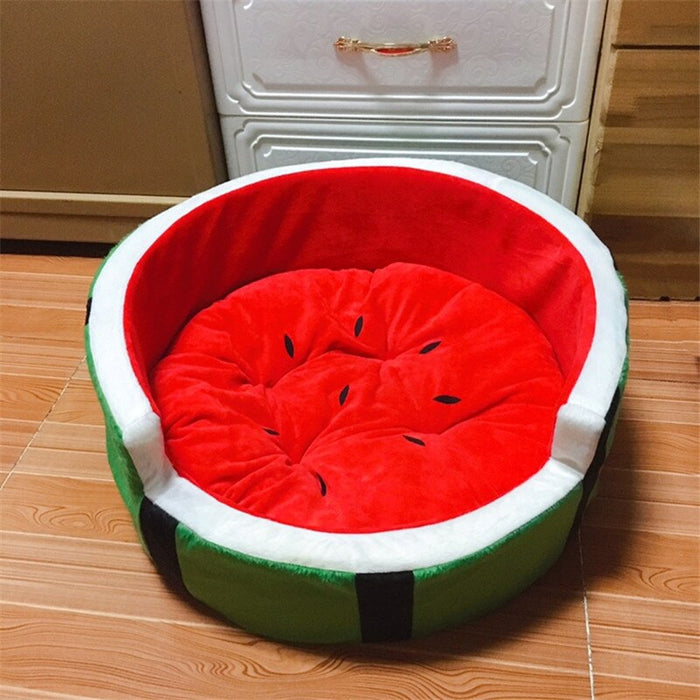 Cute Watermelon Modeling Kennel Dog Bed Cat Bed Mat Sofa Soft Pet Pad Pet Bed