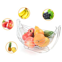 Home Fashion Fruit Basket Iron Art Swing Fruit Plate Kitchen Decorative Fruit Storage Rack