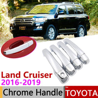 for Toyota Land Cruiser J200 200 Roraima facelift 2016-2019 Chrome Door Handle Cover Car Accessories Stickers Trim Set 2017 2018