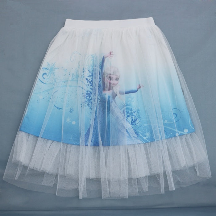 2019 new Baby girl fashion beautiful skirts princess Summer cartoon clothing Elsa and Anna girls