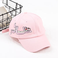 2019 Fashion Pink Panther Embroidery Baseball Cap Women Cool City Outdoor Dad Hat Men
