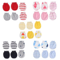 Cotton Baby Mittens Gloves 3 Pairs/Pack Baby Gloves Super Soft Material Newborn Boy Girl Safety Scratch Mittens Hand Protector