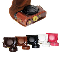 Camera PU Leather Case For SONY Cyber-shot DSC-HX90V Sony HX90 WX500 Camera Bag Cover With Strap