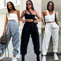 Brand New Women Casual Fashion High Waist Hip Hop Dance Sport Running Jogging Harem Pants Sweatpants Jogger Baggy Trousers