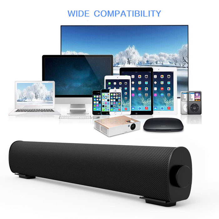 Bluetooth sound bar portable wireless speaker home theater built-in subwoofer for TV computer