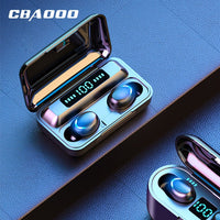 CBAOOO F9 TWS Wireless Earphone 5.0V Bluetooth Headphones Stereo Earphones Noise Canceling Headset Waterproof Earbuds LED Power
