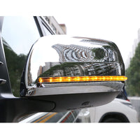 Flowing LED Side Rear-View Mirror Cover Replacement For Toyota Land Cruiser 200 LC200 2012 2014 2016 2017 2018 2019 Accessories